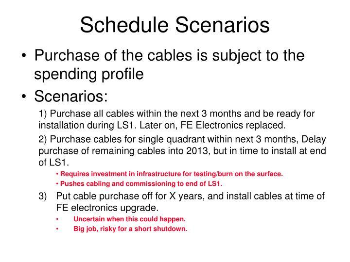 Schedule Scenarios