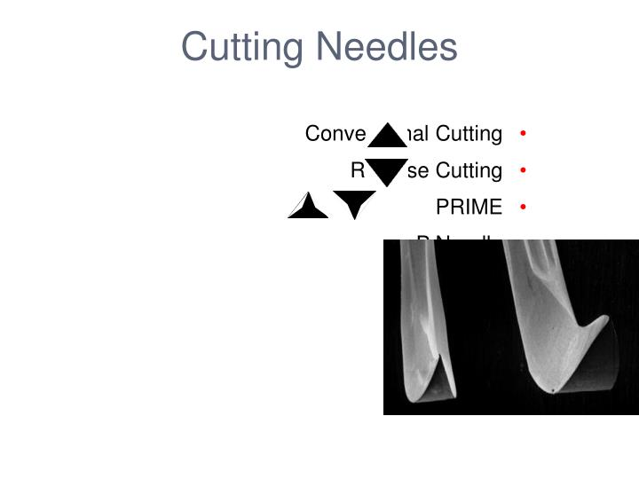 Cutting Needles