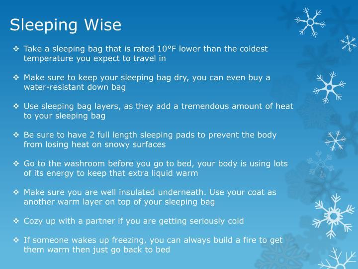 Sleeping Wise