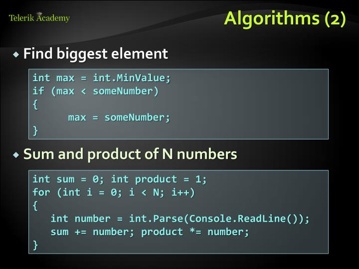 Algorithms (2)