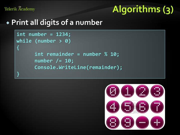 Algorithms (3)