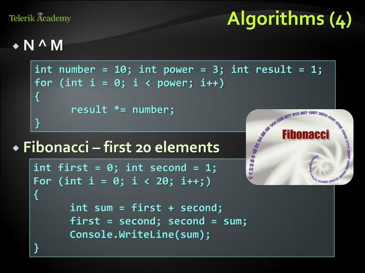 Algorithms (4)