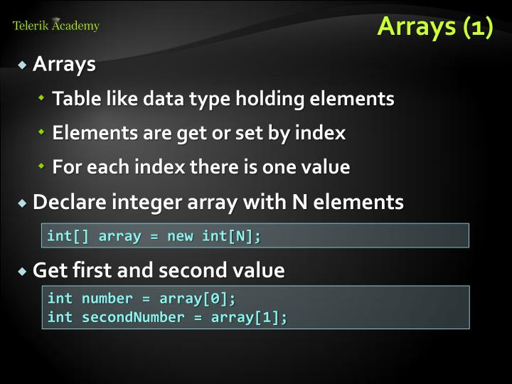 Arrays (1)