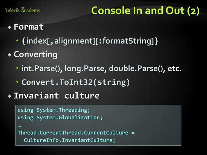 Console In and Out (2)