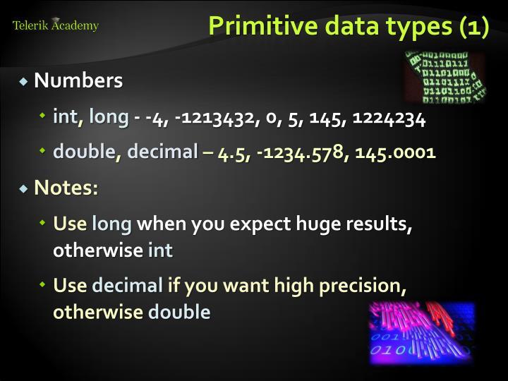 Primitive data types (1)