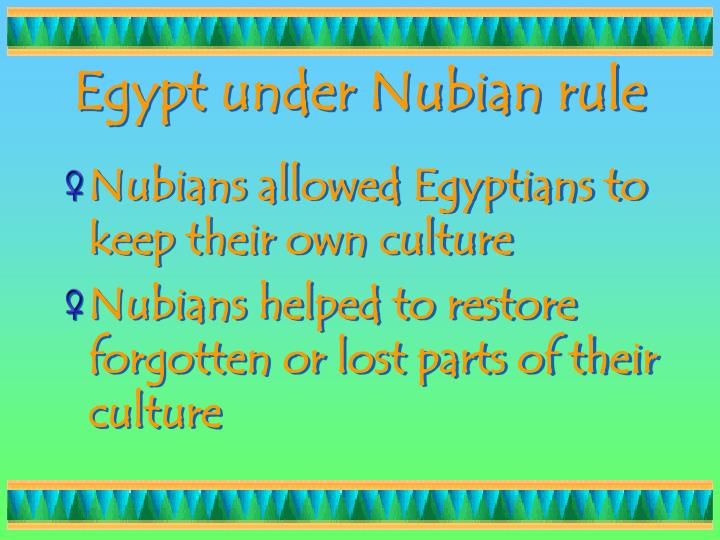 Egypt under Nubian rule