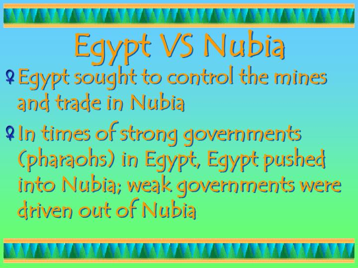 Egypt VS Nubia