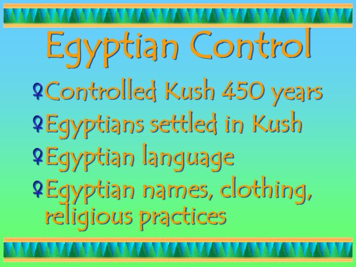 Egyptian Control