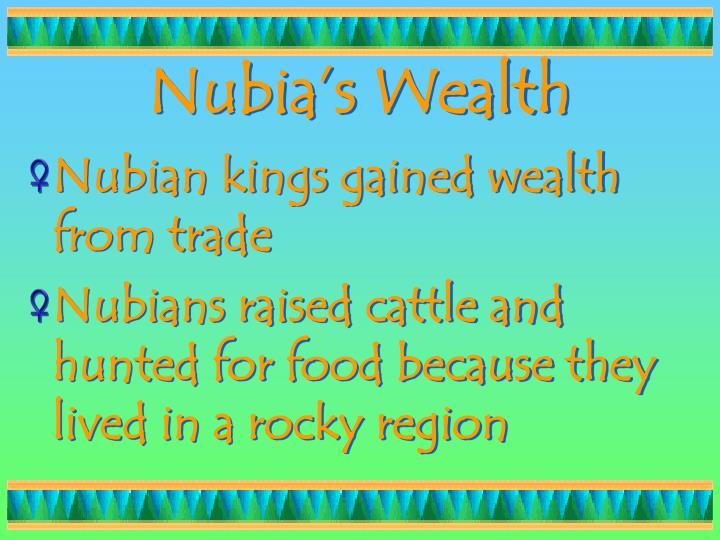 Nubia's Wealth