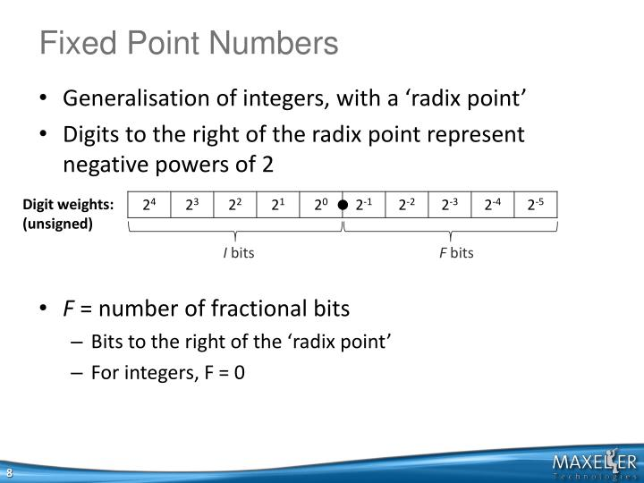 Fixed Point Numbers