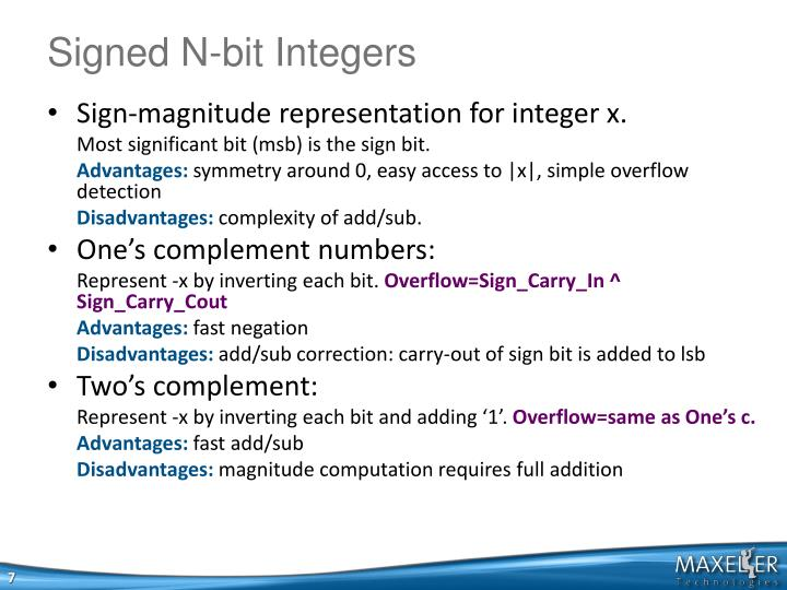Signed N-bit Integers