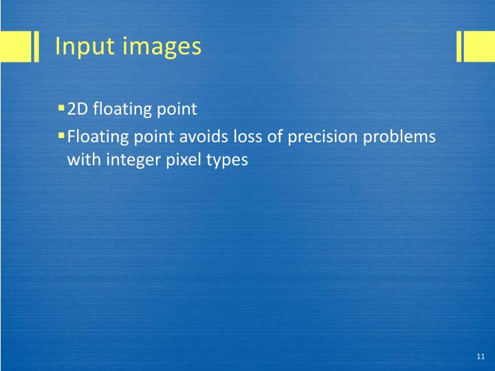 Input images