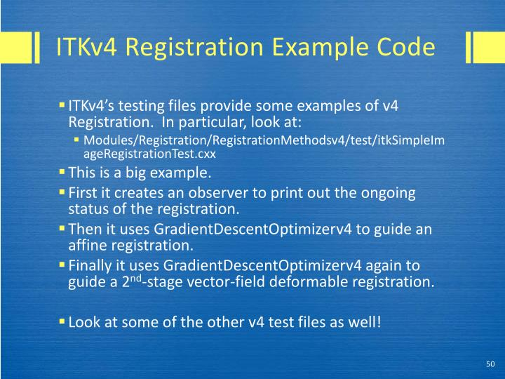 ITKv4 Registration Example Code