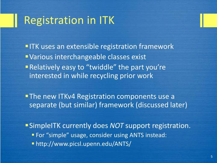Registration in ITK