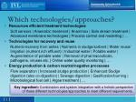 which technologies approaches