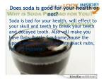 does soda is good for your health or not