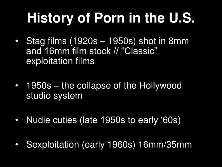 History of porn in the u s