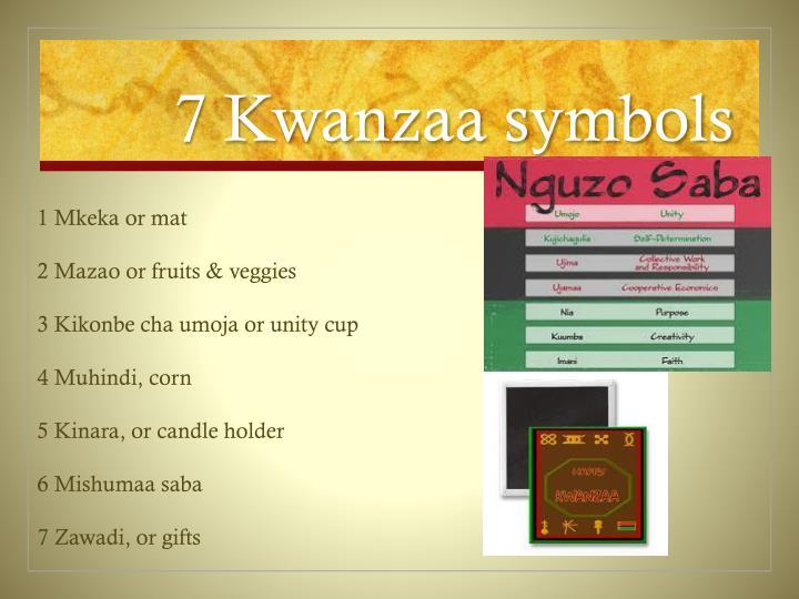 7 Kwanzaa symbols