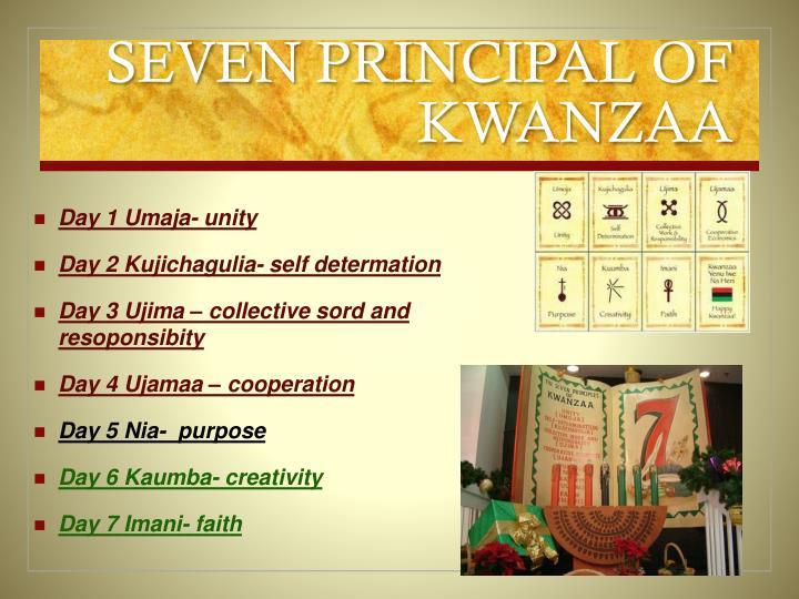 SEVEN PRINCIPAL OF KWANZAA