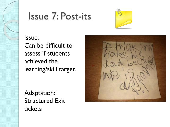 Issue 7: Post-its