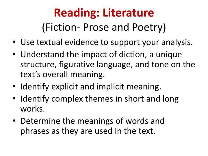 Reading: Literature