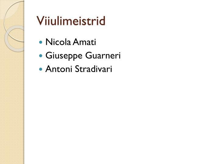 Viiulimeistrid