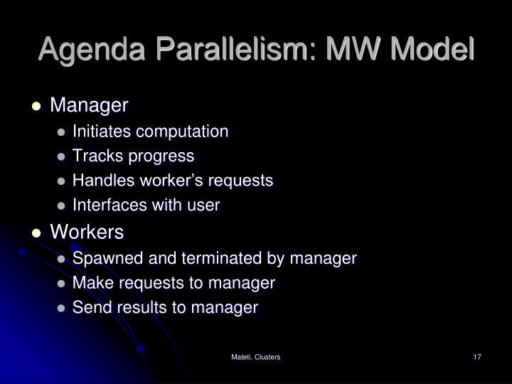 Agenda Parallelism: MW Model