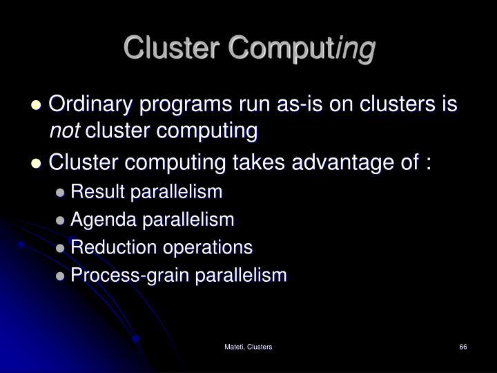 Cluster Comput