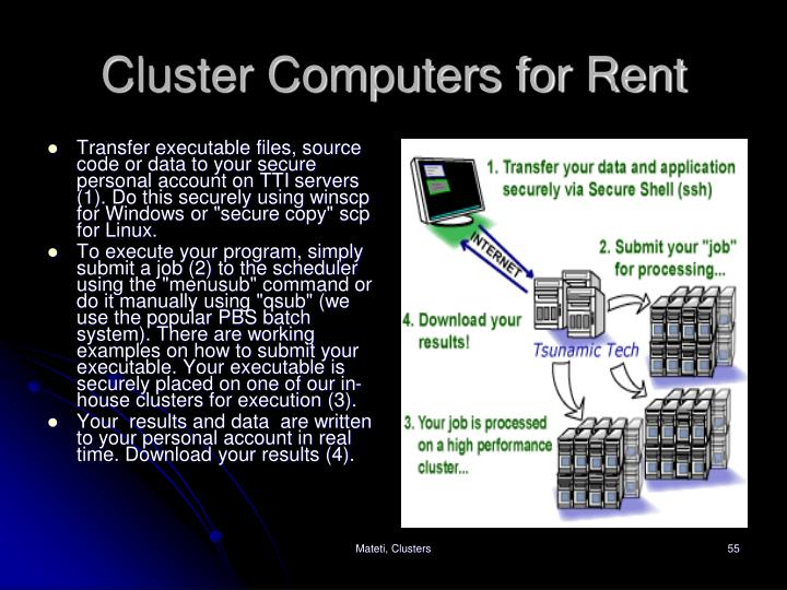 Cluster Computers for Rent