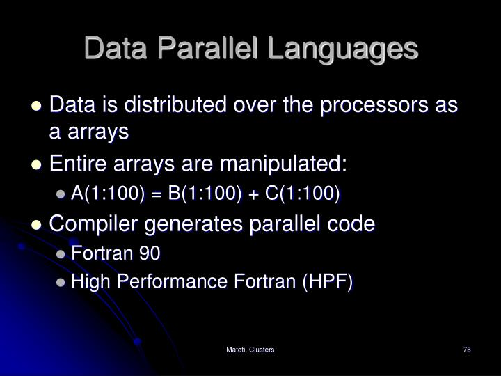 Data Parallel Languages