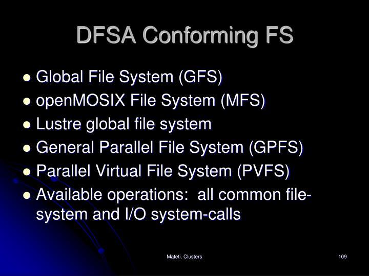 DFSA Conforming FS
