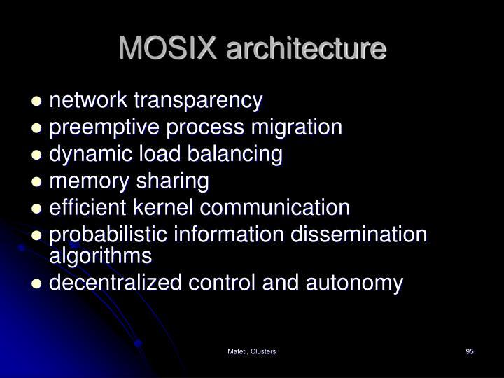 MOSIX architecture