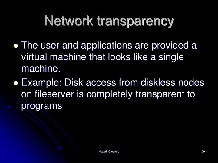 Network transparency