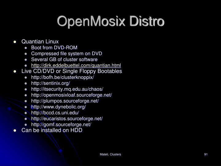OpenMosix Distro