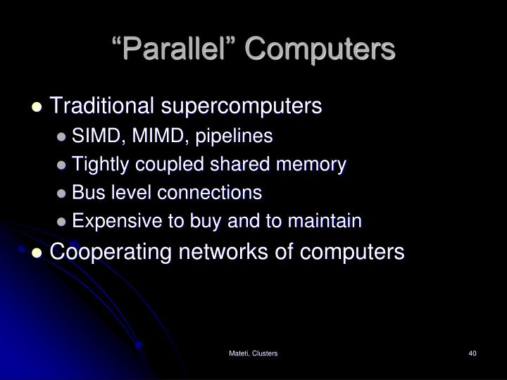 """""""Parallel"""" Computers"""
