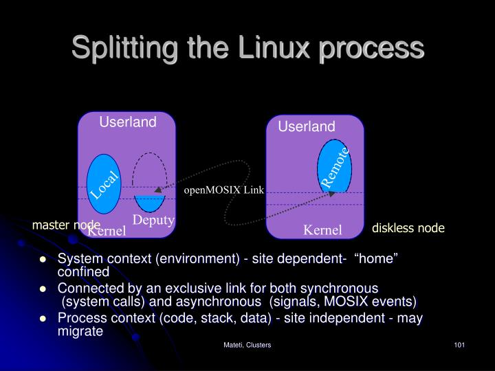 Splitting the Linux process