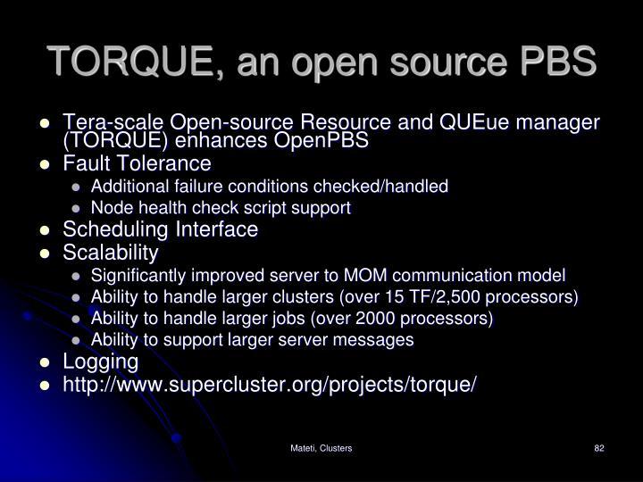 TORQUE, an open source PBS