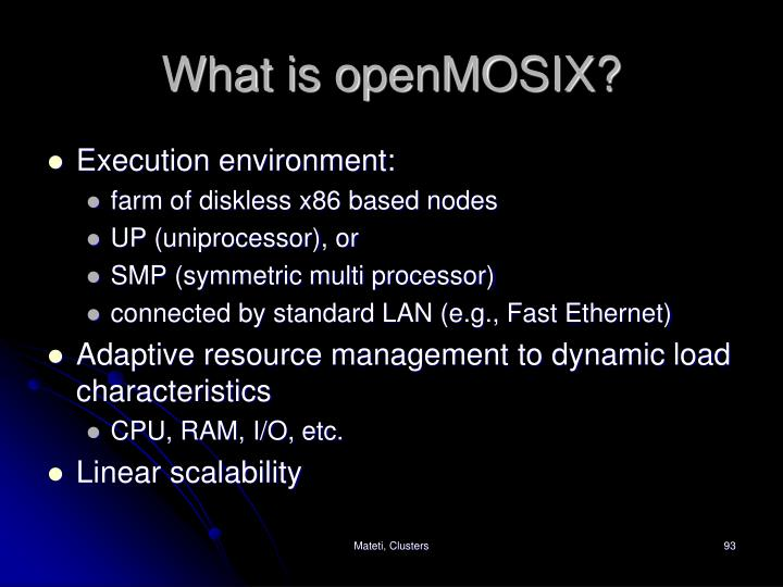 What is openMOSIX?