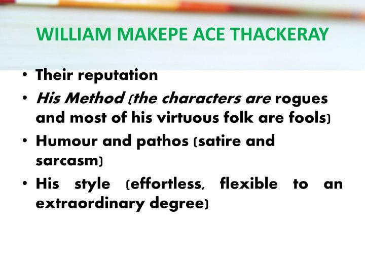 WILLIAM MAKEPE ACE THACKERAY
