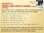 activity c fisher frey article jigsaw 15 minutes distribute