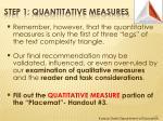 step 1 quantitative measures1