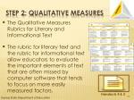 step 2 qualitative measures1
