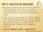 step 2 qualitative measures2