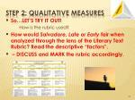 step 2 qualitative measures3