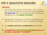 step 2 qualitative measures5
