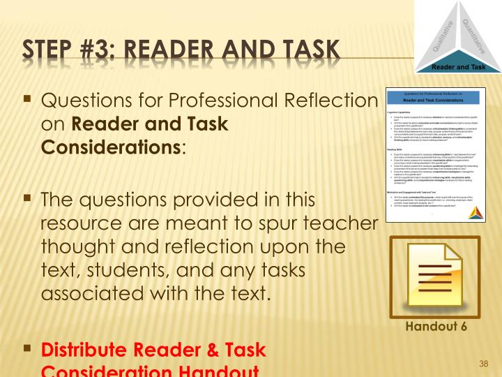 Questions for Professional Reflection on