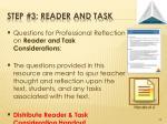 step 3 reader and task1