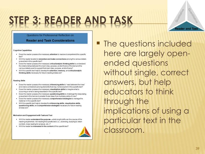 The questions included here are largely open-ended questions without single, correct answers, but help educators to think through the implications of using a particular text in the classroom.
