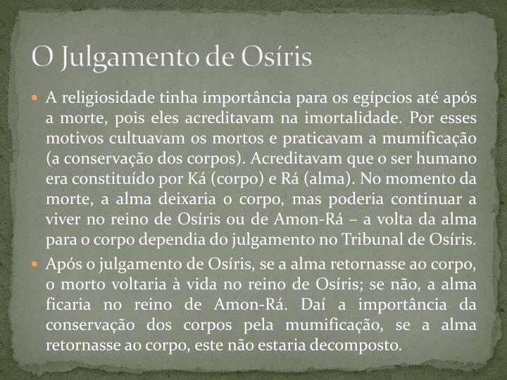 O Julgamento de Osíris