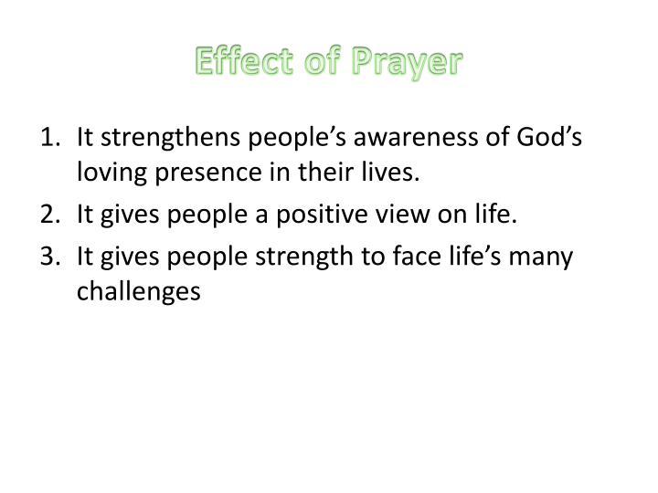 Effect of Prayer